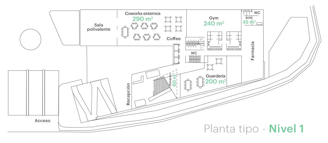 Planta tipo - Nivel 1