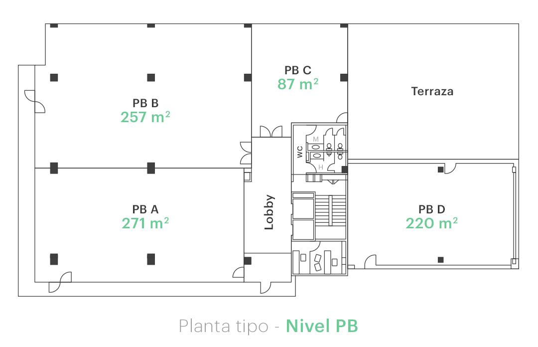 Planta tipo - Nivel PB