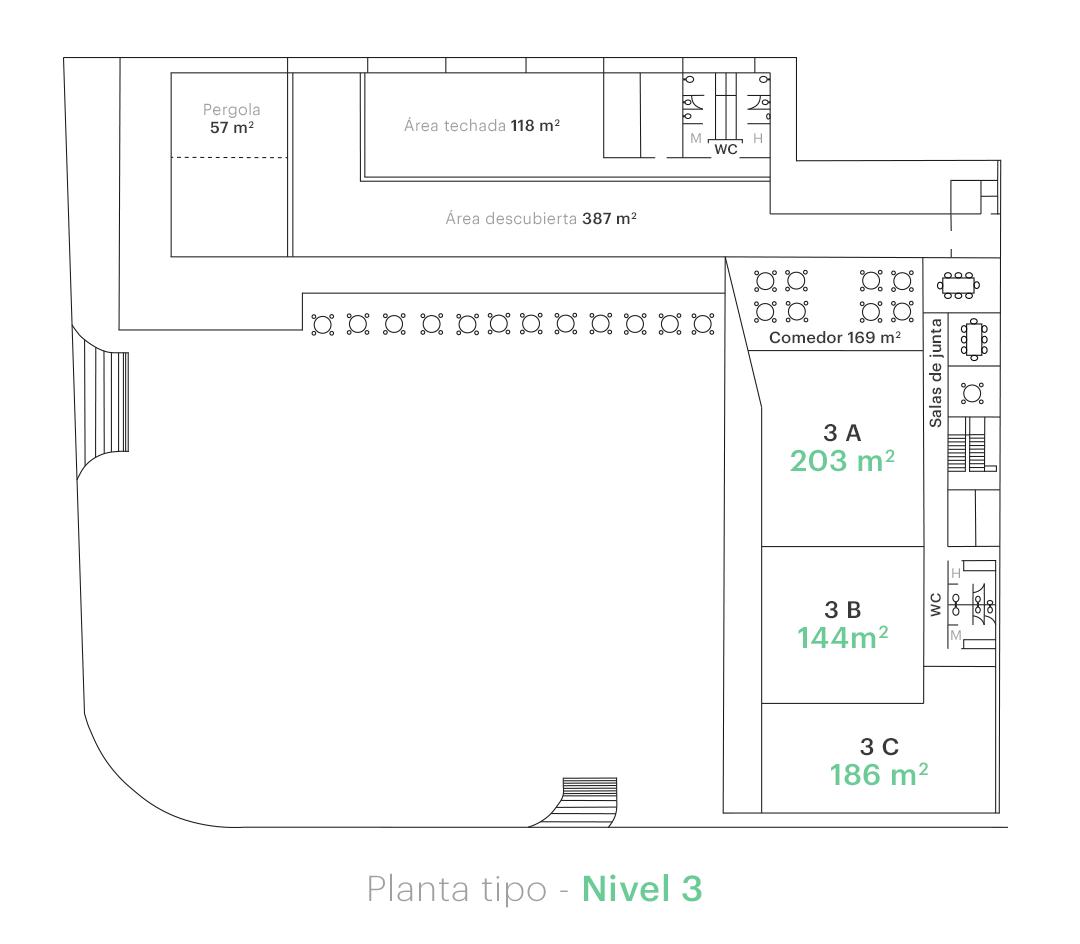 Planta tipo - Nivel 3
